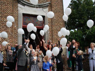 Ballonoplating huwelijk